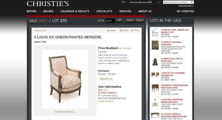 11 Christies-website