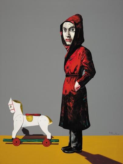 14 《肖像》 200 x 150cm 布面油画 2004 ©曾梵志工作室