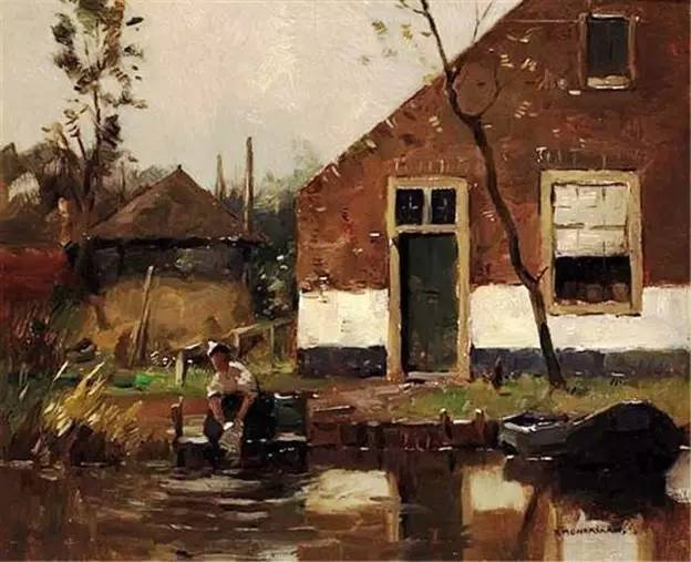 3 1895-1900 Bathers near the Canal