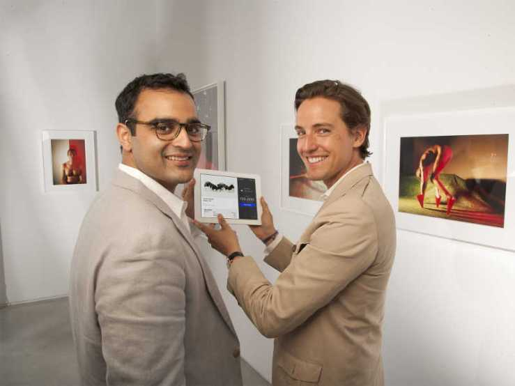 5 Aditya Julka (left) and Alexander Gilkes of Paddle8