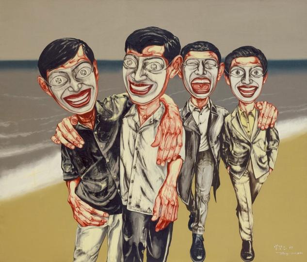 6 《面具系列 4号》 169×199cm 布面油画 1997