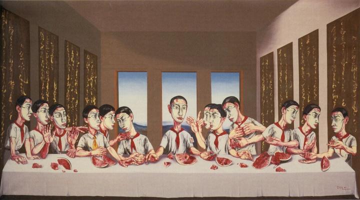 9 《最后的晚餐》220×395cm 布面油画 2001