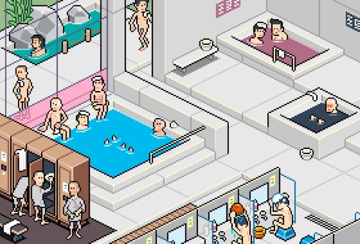 在和美旅馆悠的浴室脱衣